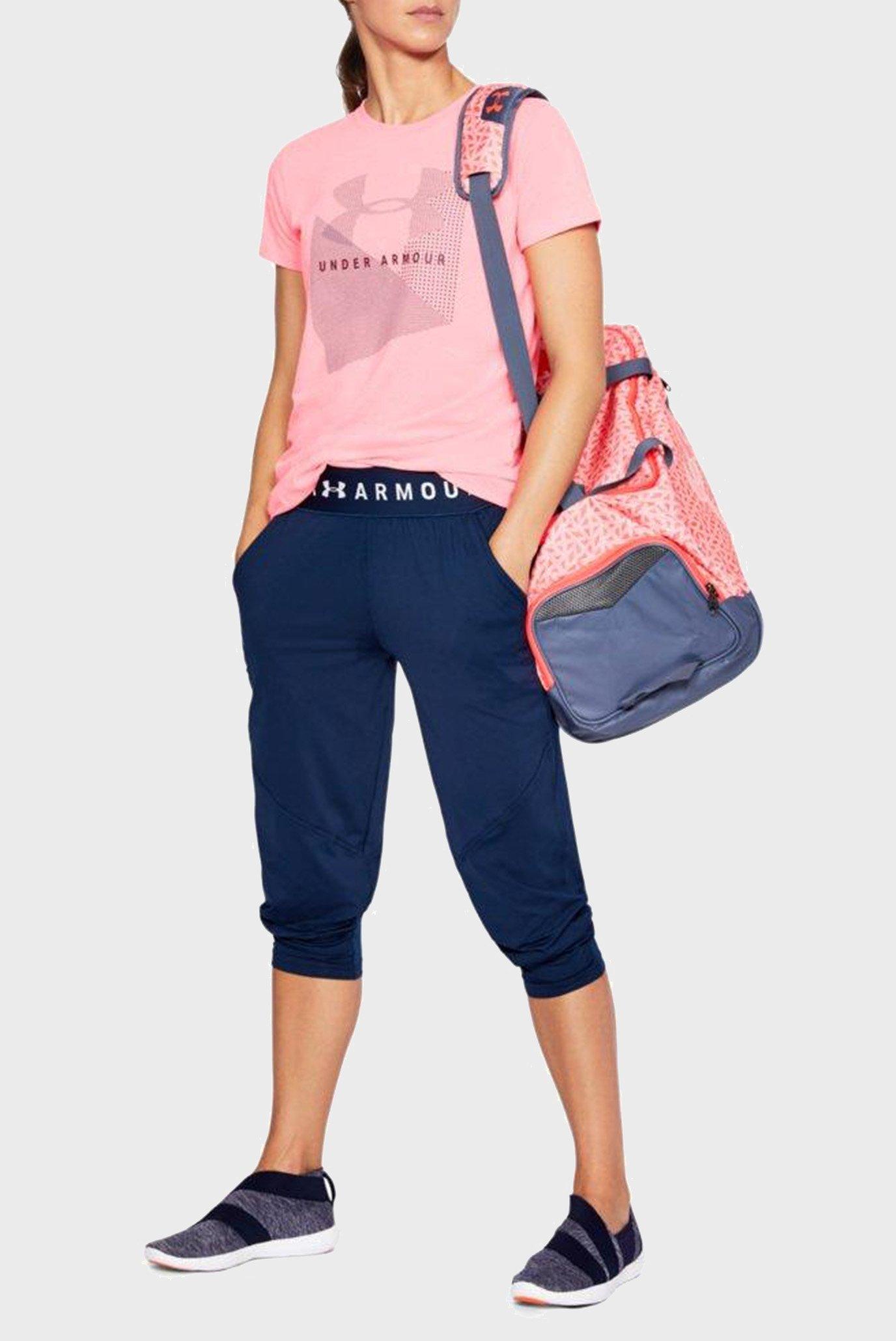 Купить Женская розовая футболка Sportstyle Mesh Logo Under Armour Under Armour 1310488-819 – Киев, Украина. Цены в интернет магазине MD Fashion