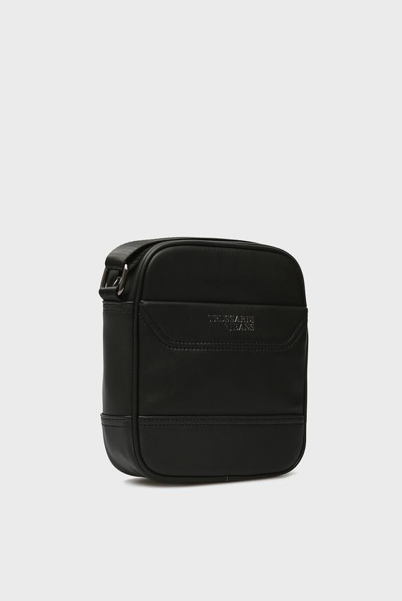 Мужская черная сумка через плечо BUSINESS