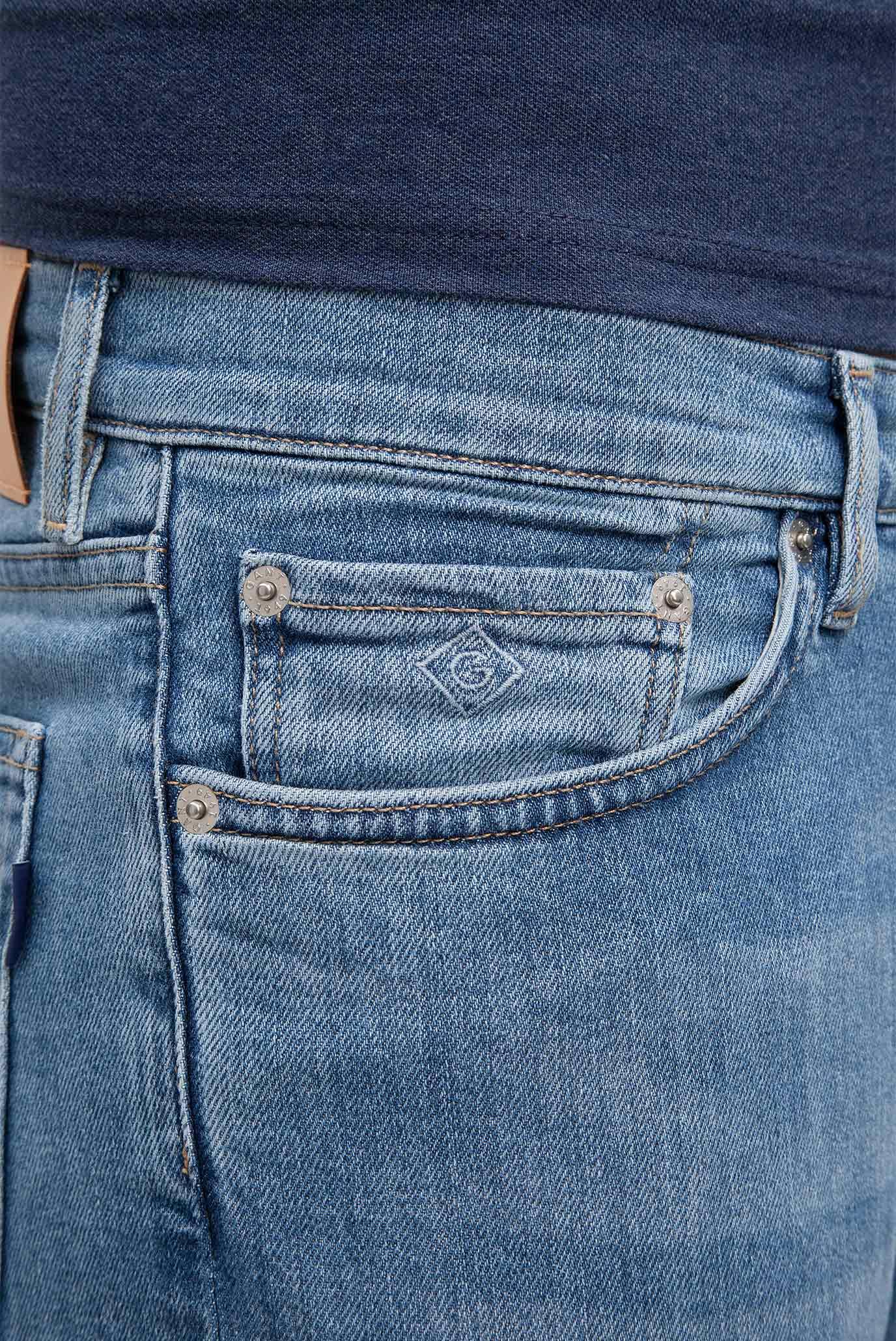 Купить Мужские голубые джинсы SLIM GANT JEANS Gant Gant 1315008 – Киев, Украина. Цены в интернет магазине MD Fashion