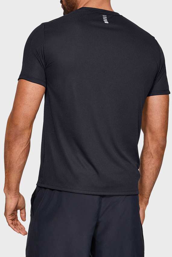 Мужская черная футболка UA SPEED STRIDE SHORTSLEEVE-BLK