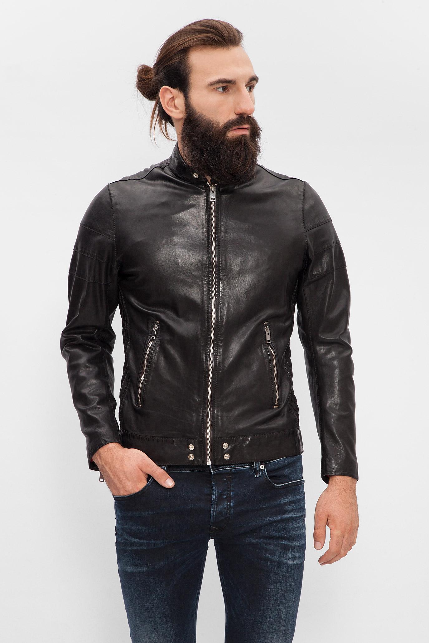 Купить Мужская черная кожаная куртка Diesel Diesel 00S11D 0DAMJ – Киев 9a97b096a5682