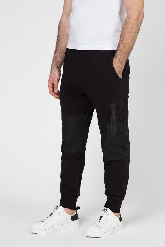 Мужские черные спортивные брюки P-ORTEX