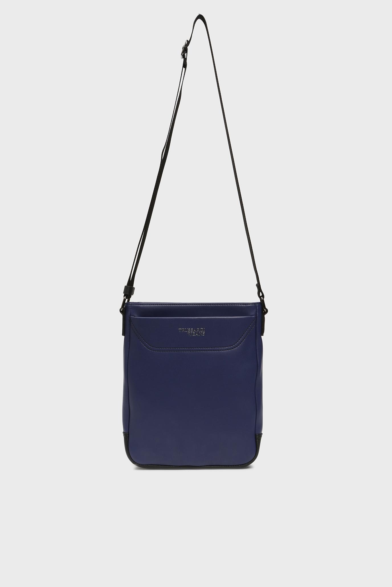 Купить Мужская темно-синяя сумка через плечо BUSINESS CITY REPORTER Trussardi Jeans Trussardi Jeans 9Y099995/71B00115 – Киев, Украина. Цены в интернет магазине MD Fashion