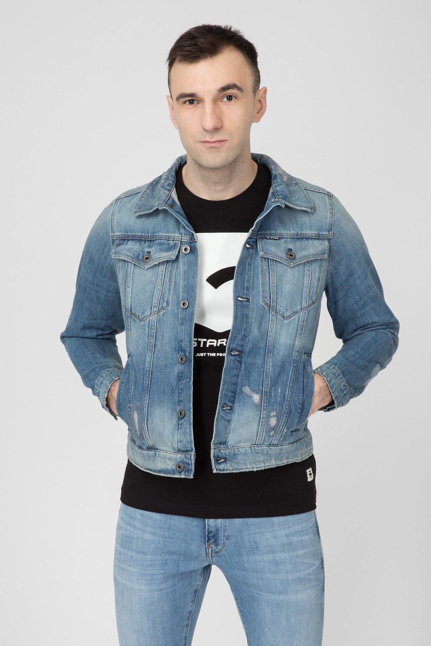 e0c296e4 Купить Мужская голубая джинсовая куртка 3301 G-Star RAW G-Star RAW  D11916,9436 – Киев, ...