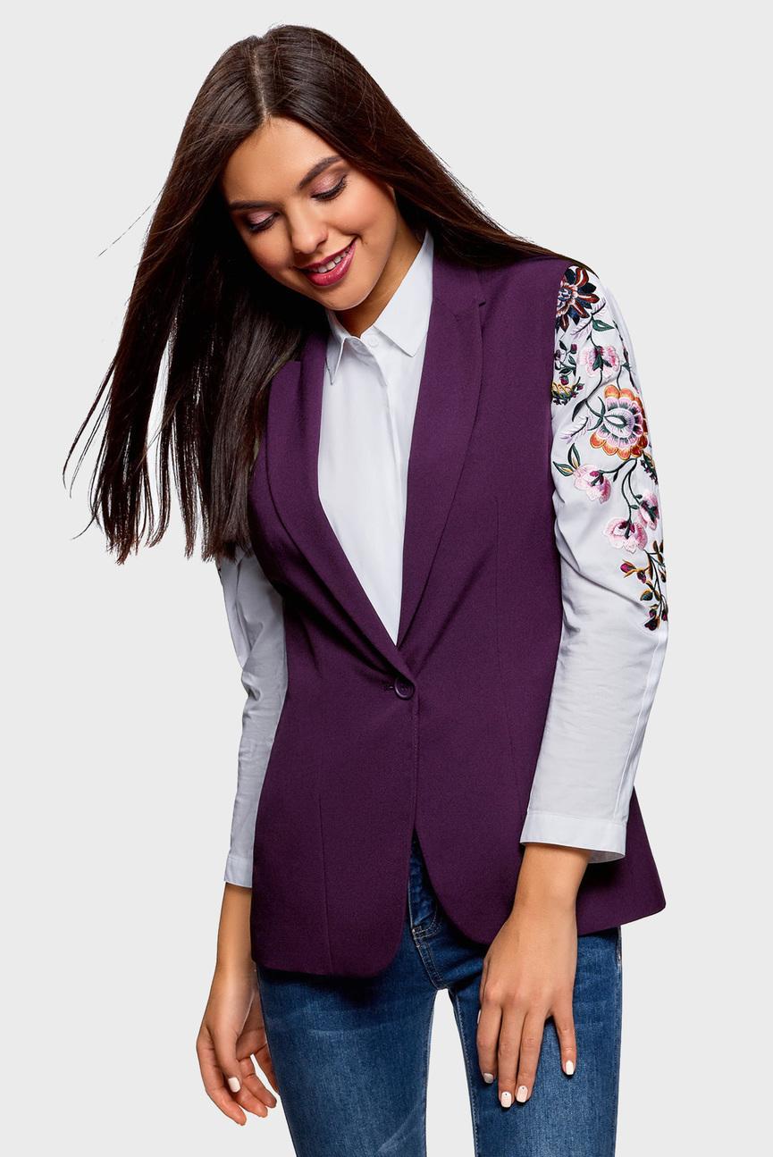 Женский фиолетовый жилет