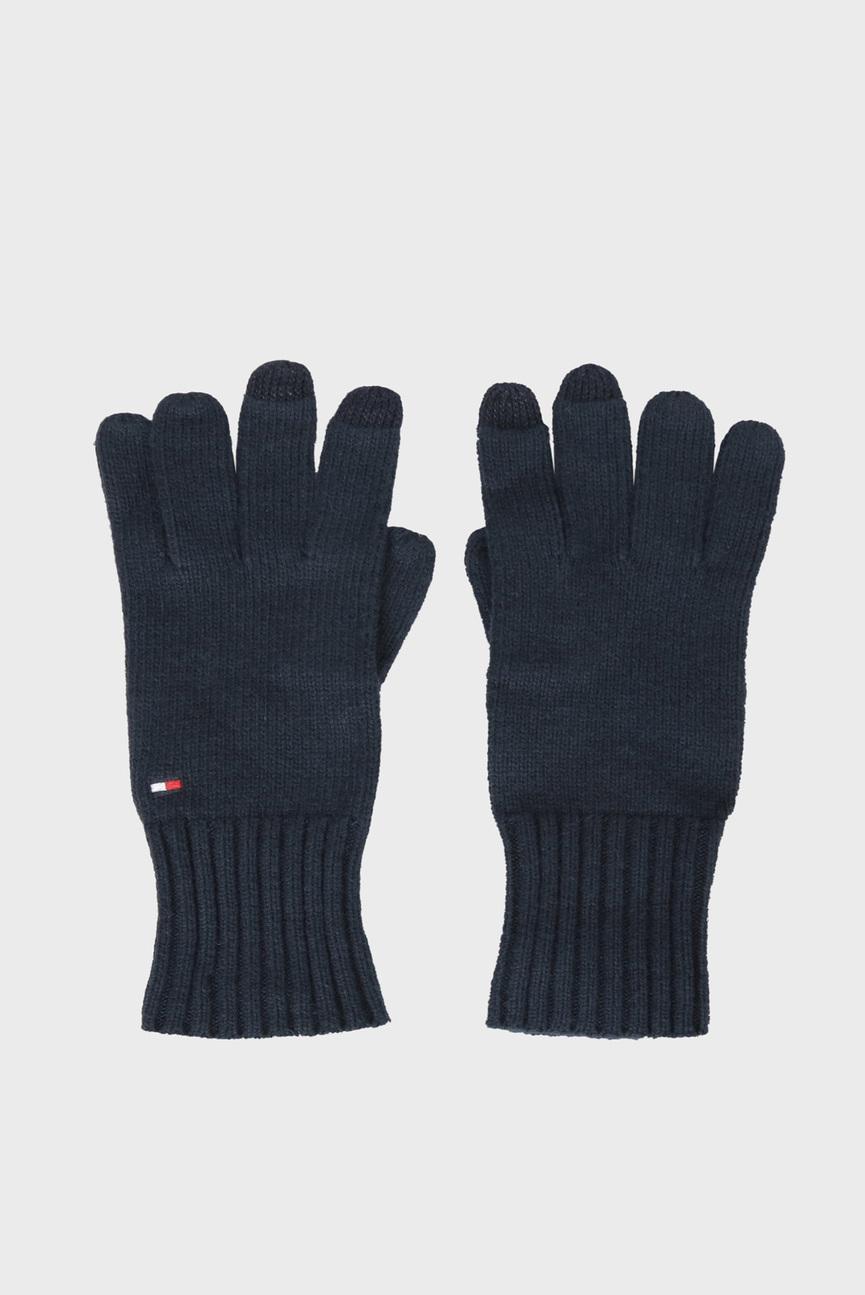 Женские темно-синие перчатки SOFT KNIT