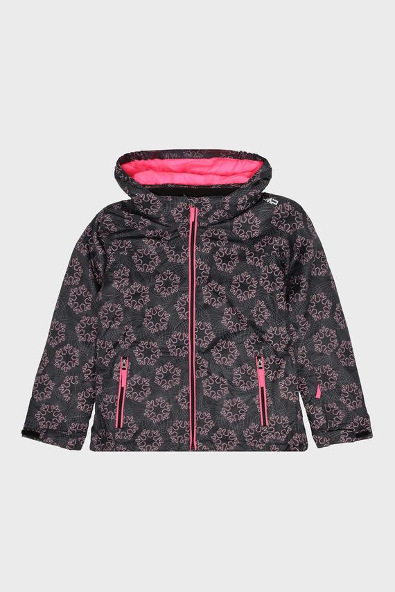 Детская черная лыжная куртка