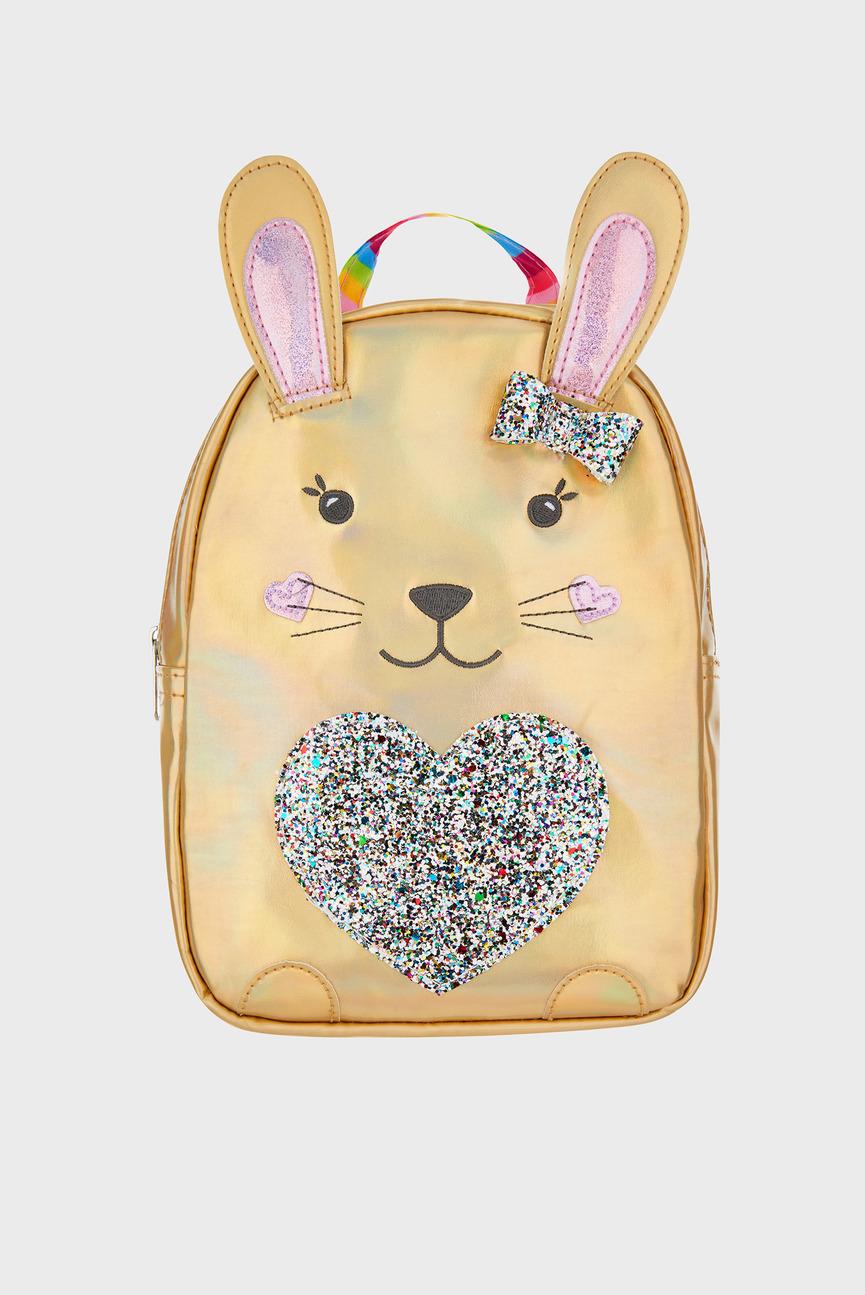 Детский золотистый рюкзак RAINBOW BUNNY BACKPACK