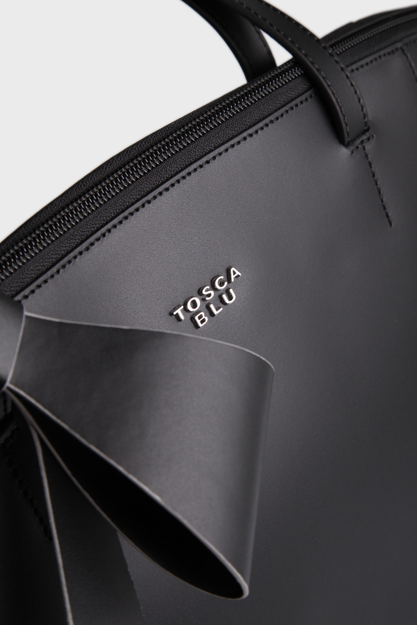 830cbe07e531 Купить Женская черная кожаная сумка на плечо Tosca Blu Tosca Blu TF17CB130  – Киев, Украина. Цены в ...