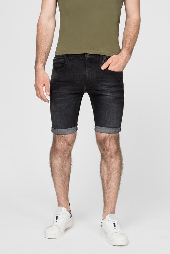 Мужские черные джинсовые шорты 3301 Slim 1\2