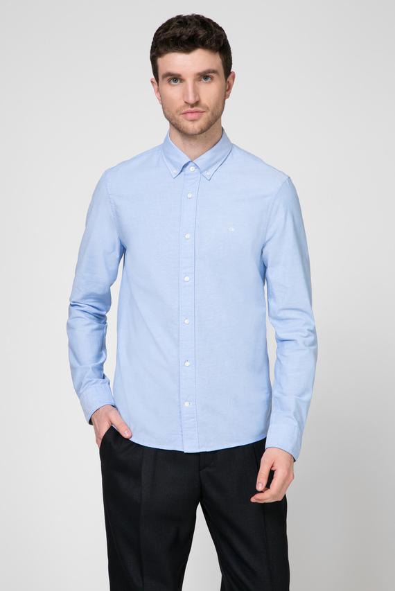 Мужская голубая рубашка OXFORD