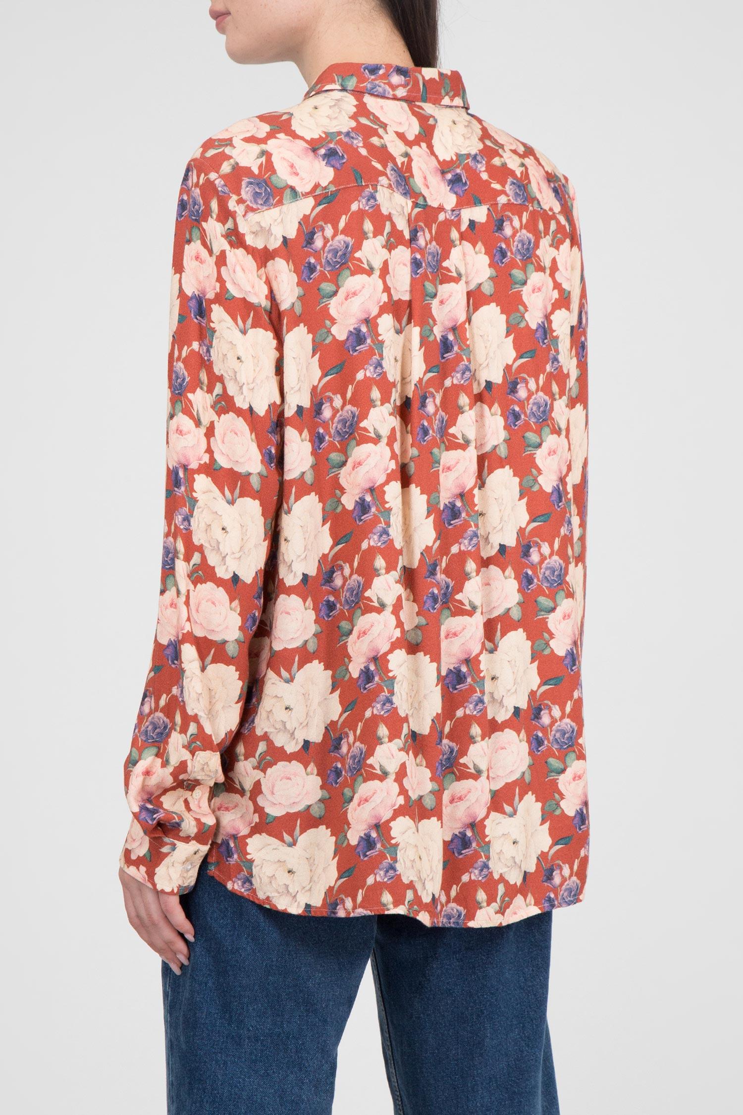 Женская терракотовая блуза с принтом Luis Trenker