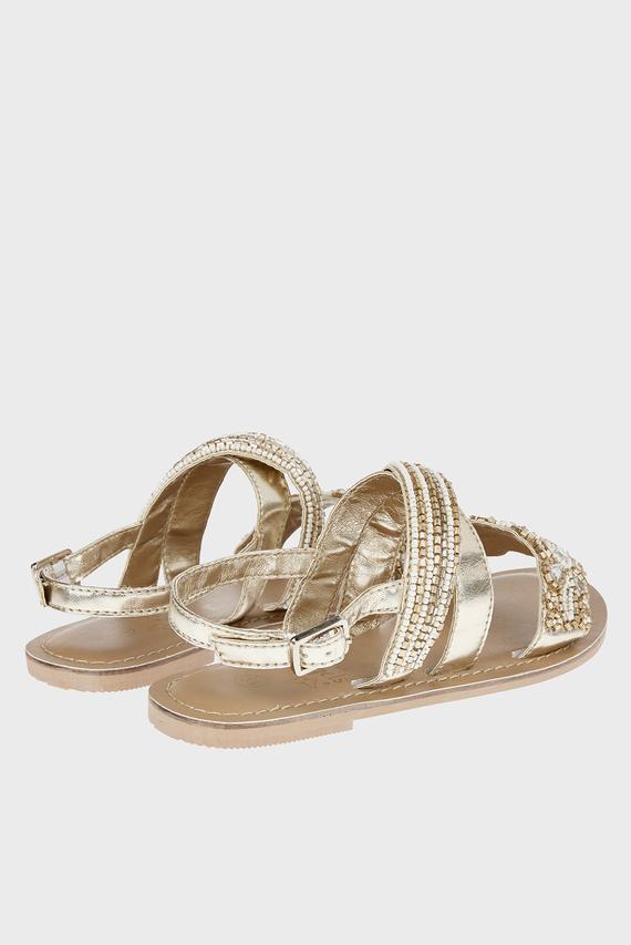 Детские золотистые сандалии