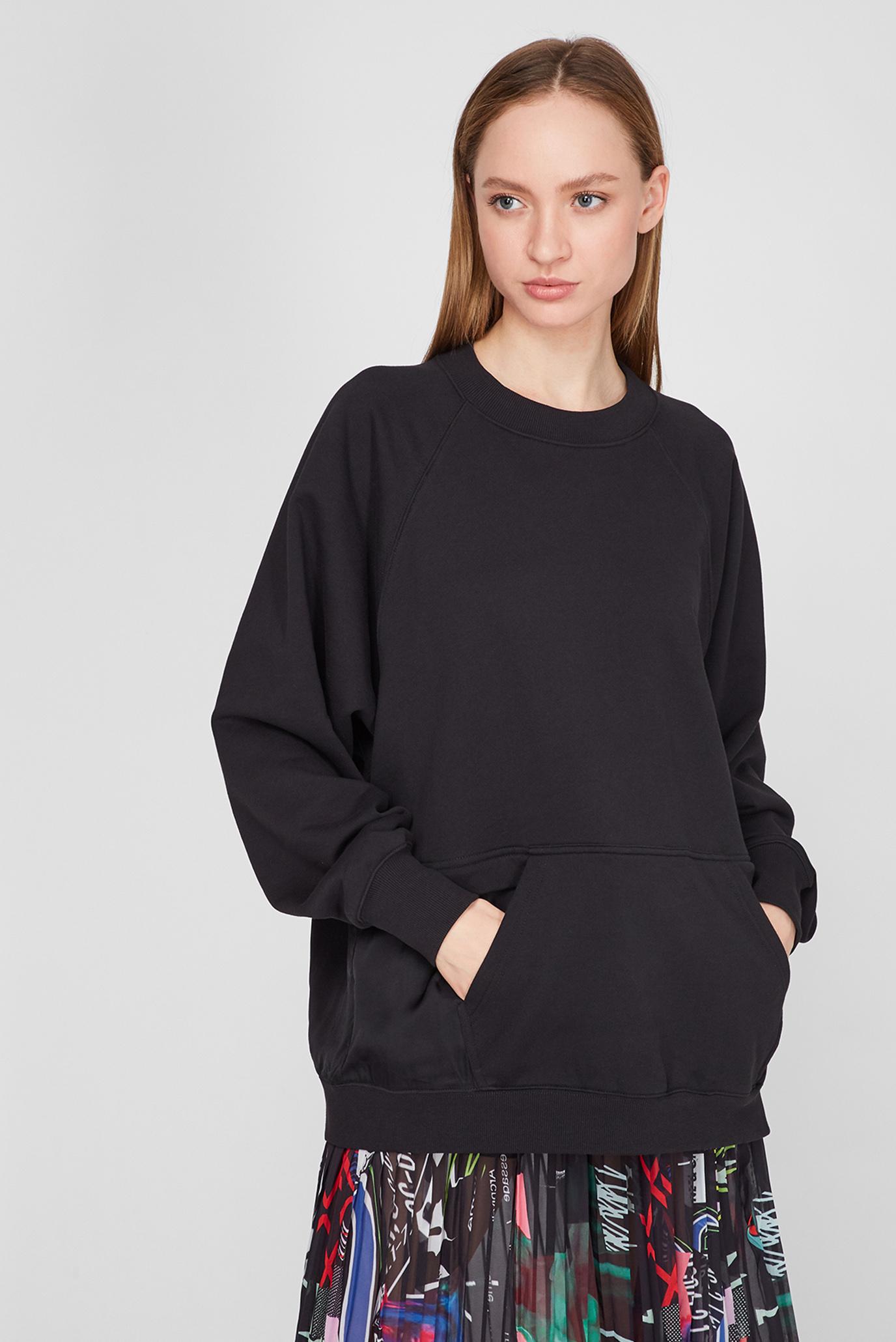 Женский черный свитшот F-MIX 1