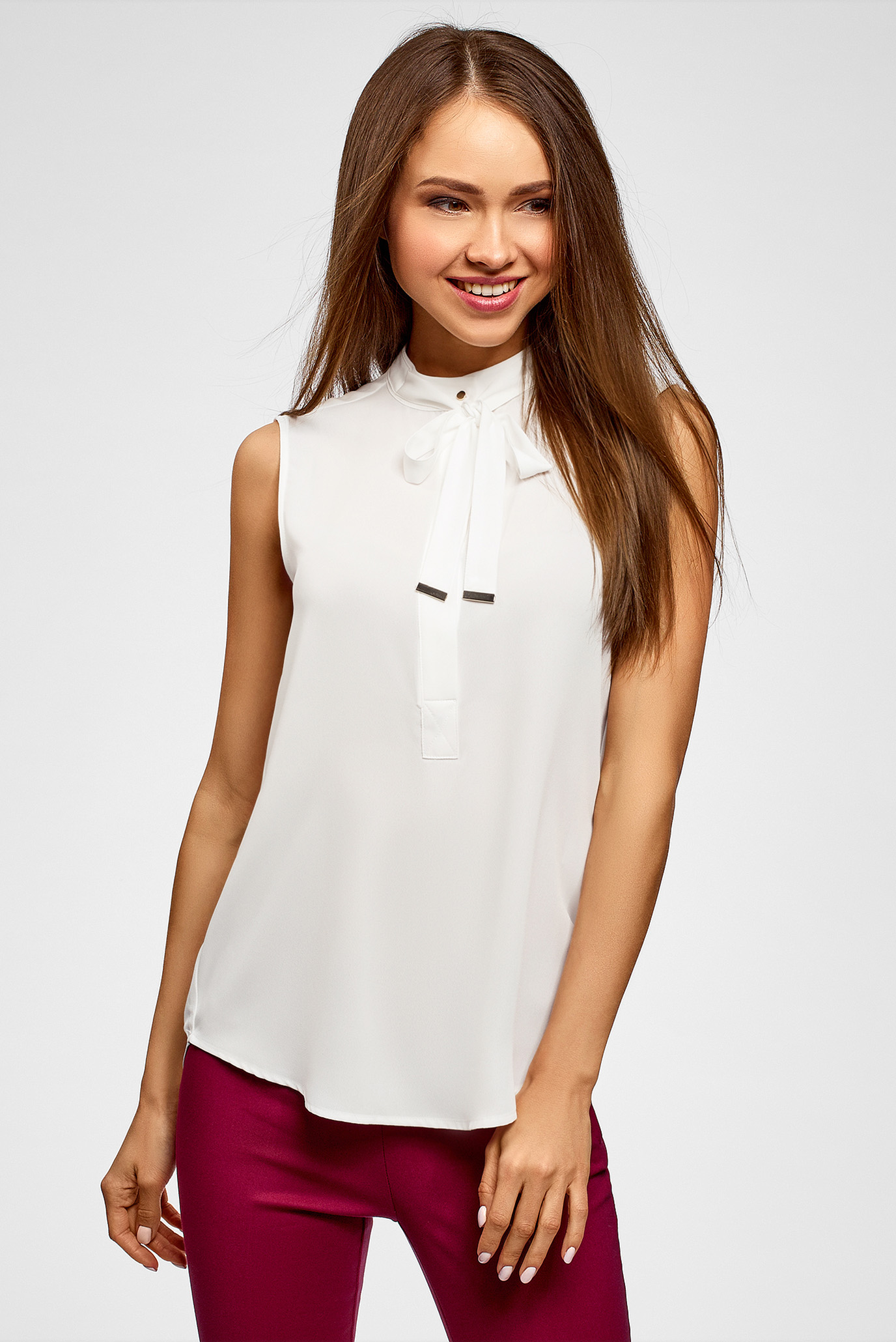 Купить Женская белая блуза Oodji Oodji 24911002/36215/1200N – Киев, Украина. Цены в интернет магазине MD Fashion