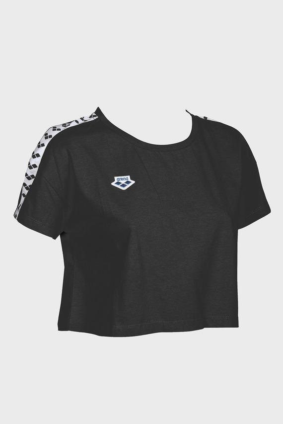 Женская черная футболка CORINNE TEAM