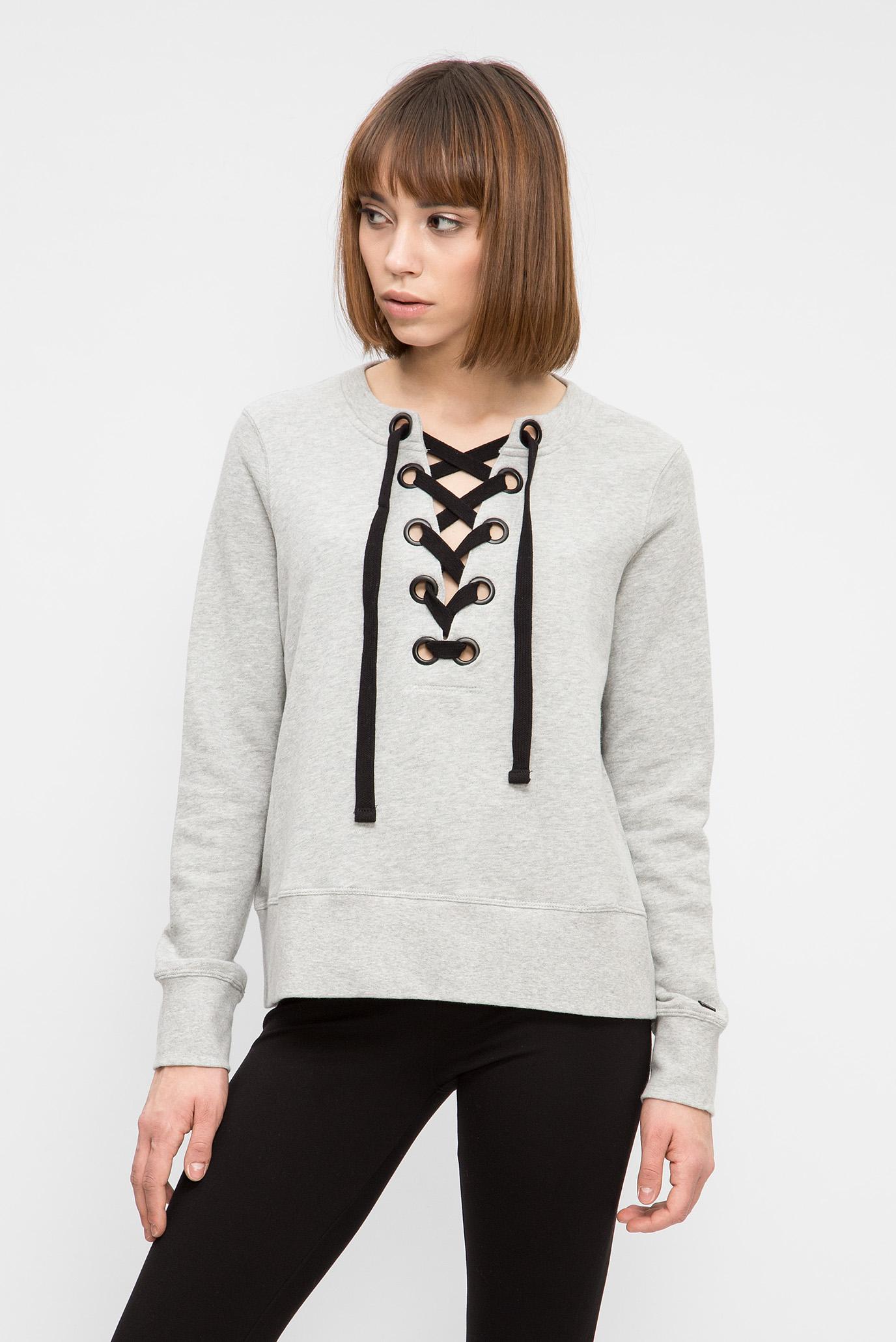 Купить Женский серый свитшот DKNY DKNY DP7T5030 – Киев, Украина. Цены в интернет  магазине MD Fashion 444142e5b28