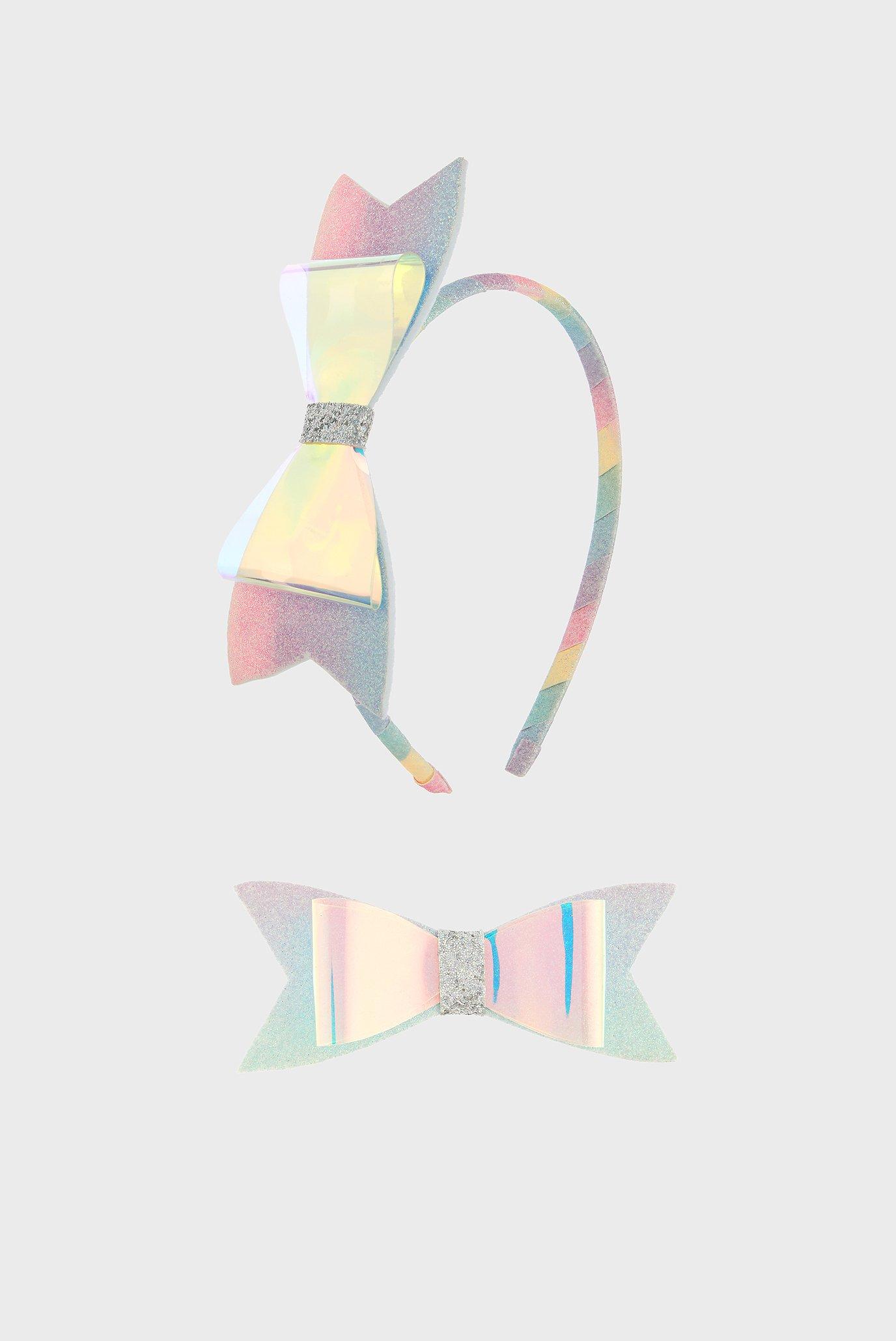 Купить Детский набор аксессуаров (обруч, заколка) HOLOGRAPHIC RAINBOW Accessorize Accessorize 683056 – Киев, Украина. Цены в интернет магазине MD Fashion