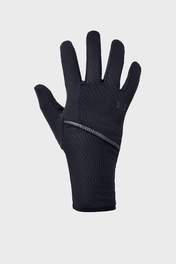 Женские черные перчатки UA Storm Run Liner