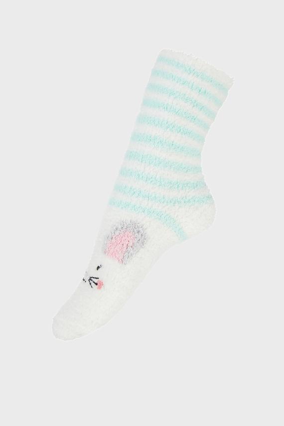 Детские белые носки Bunny Slipper Sock