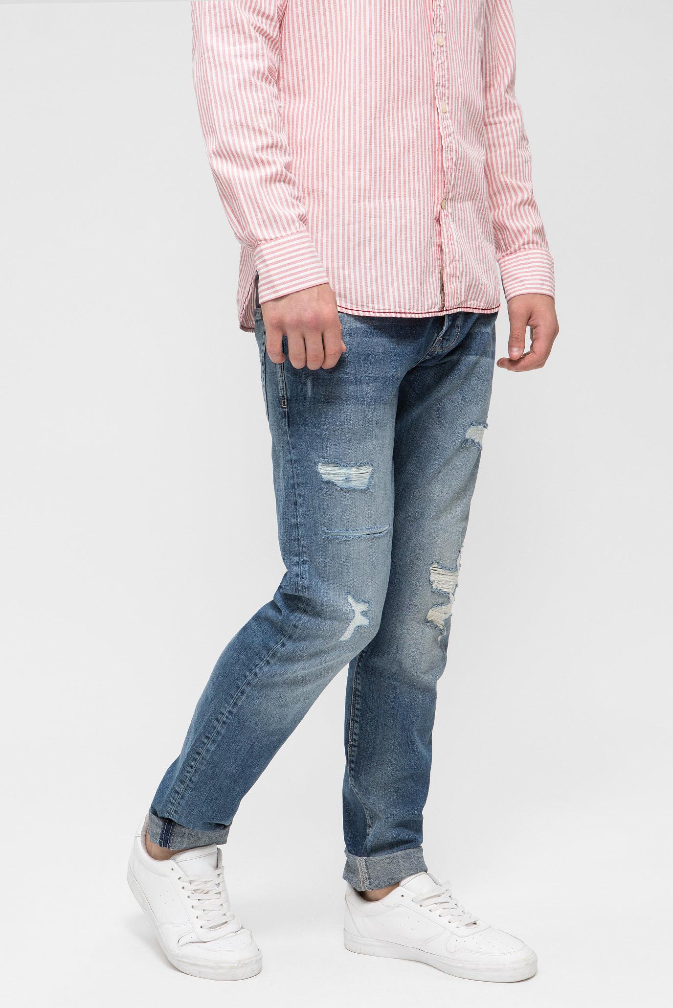 Купить Мужские синие джинсы HATCH Pepe Jeans Pepe Jeans PM200823RB14 – Киев, Украина. Цены в интернет магазине MD Fashion
