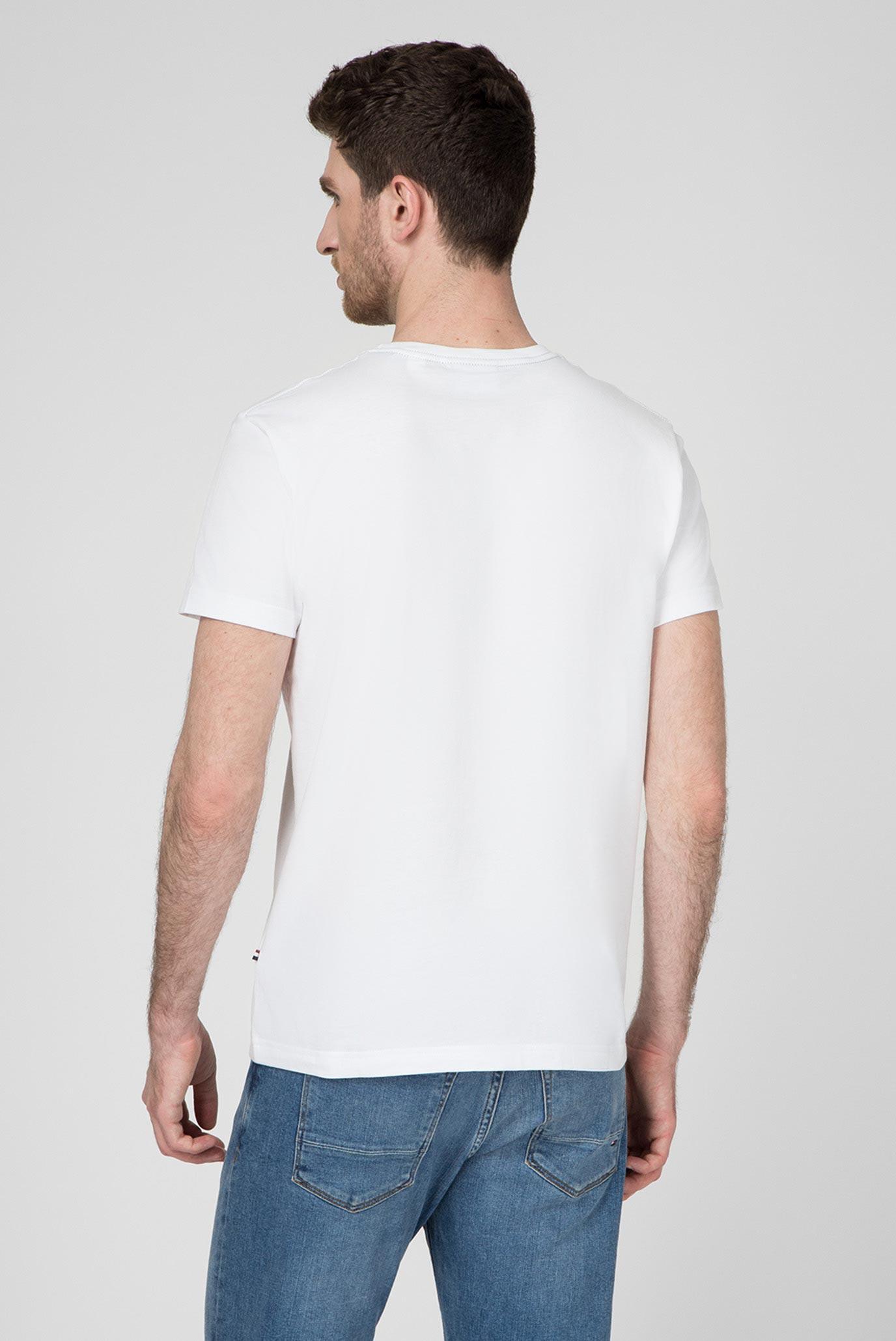 Мужская белая футболка LE MANS Gant