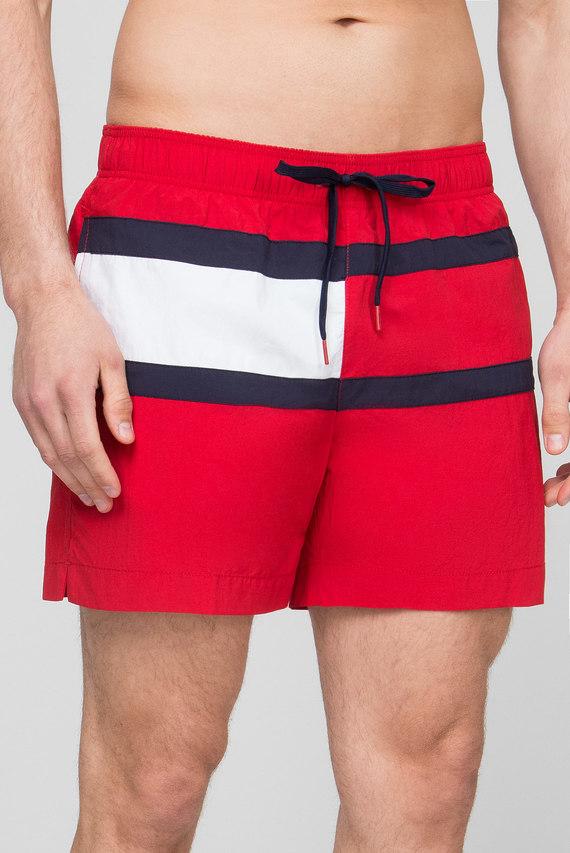 Мужские красные плавательные шорты
