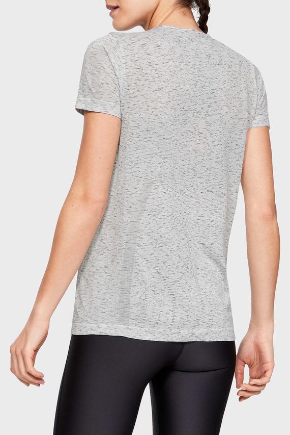 Женская серая футболка UA Vanish Seamless SS Spacedye