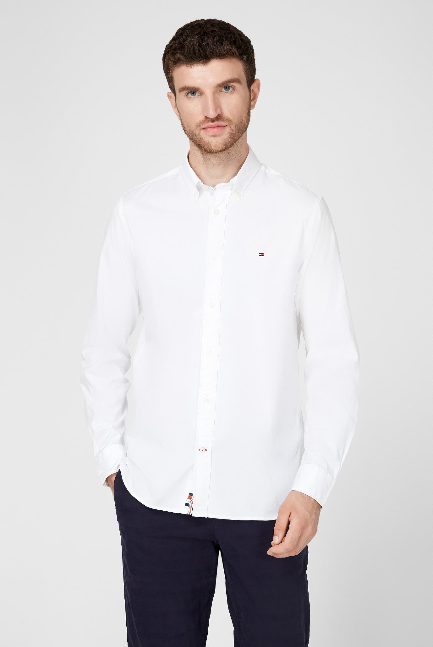 Мужская белая рубашка FLEX FINE 1