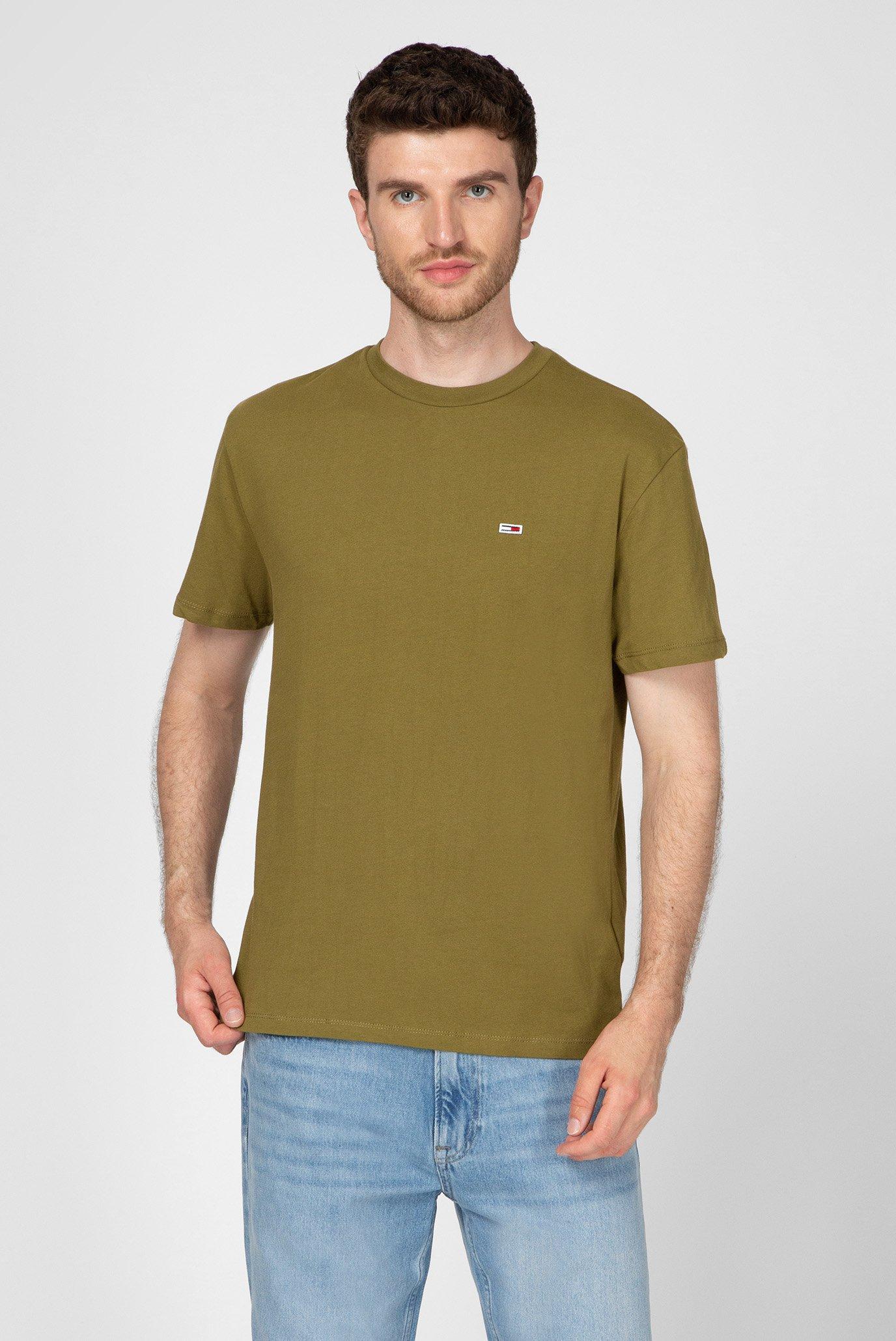 Чоловіча зелена футболка TJM TOMMY CLASSICS Tommy Jeans