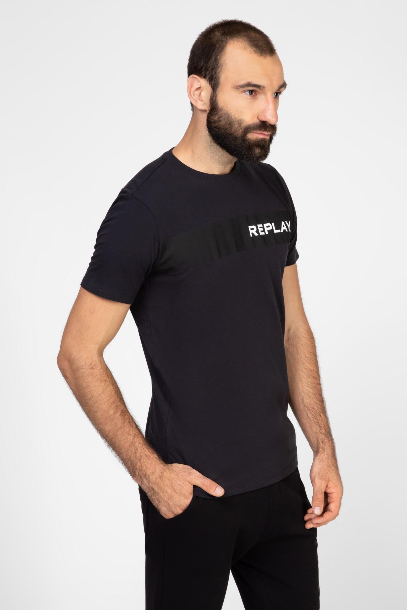 Мужская темно-синяя футболка Replay