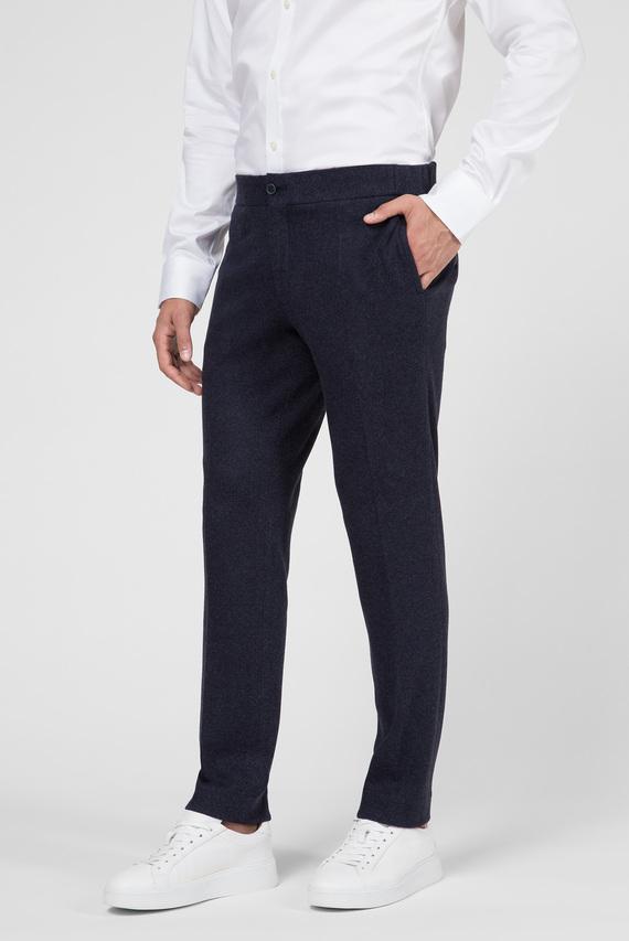 Мужские темно-синие вельветовые брюки SLIM CORD