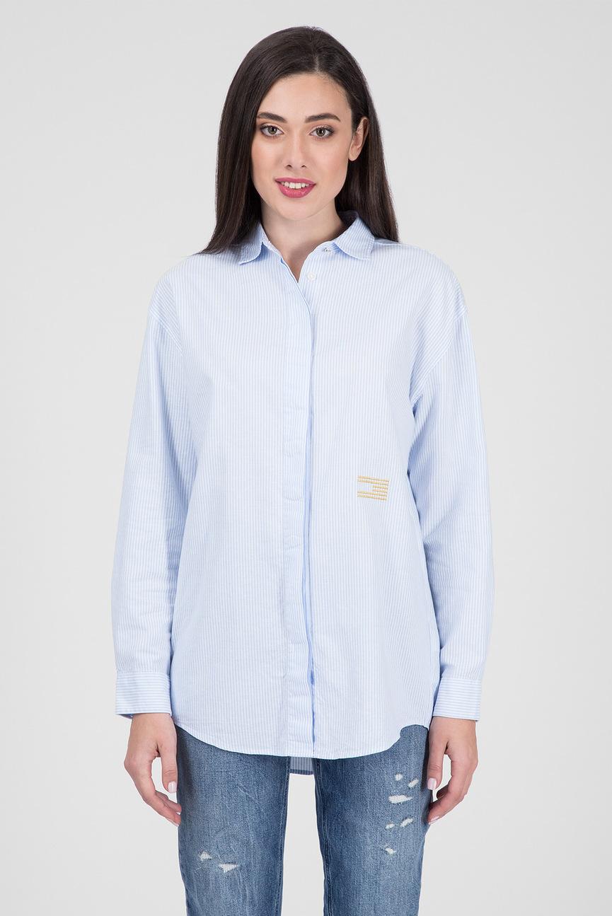 Женская белая рубашка в полоску ICON