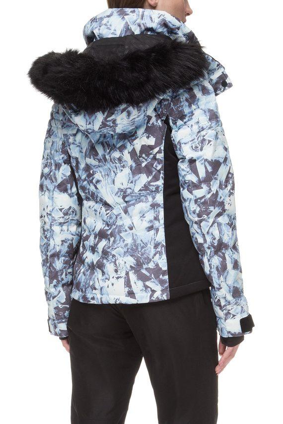 Женская голубая лыжная куртка с принтом Luxe Snow