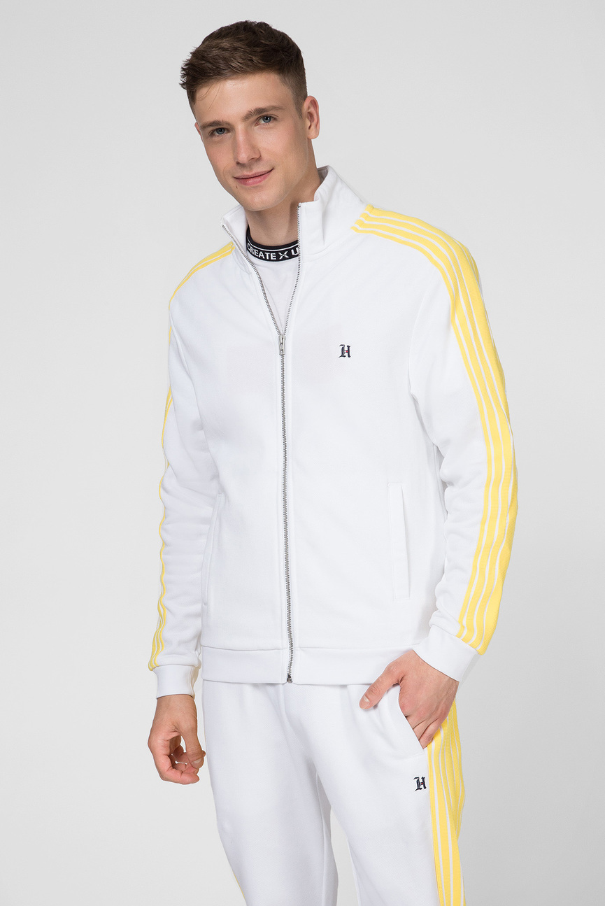 Мужская белая спортивная кофта LEWIS HAMILTON