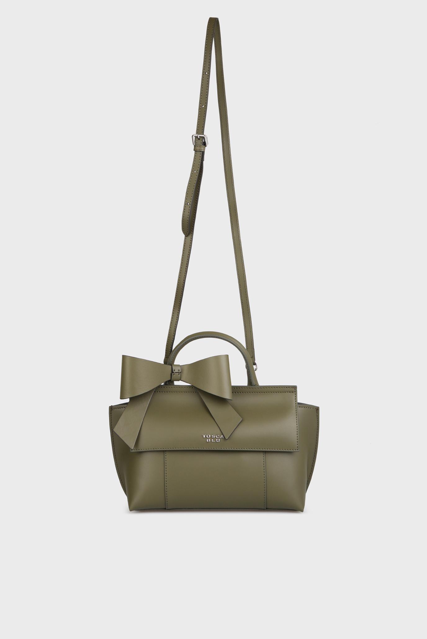 5579ac95333b Купить Женская зеленая кожаная сумка на плечо Tosca Blu Tosca Blu TF17CB134  – Киев, Украина. Цены в ...