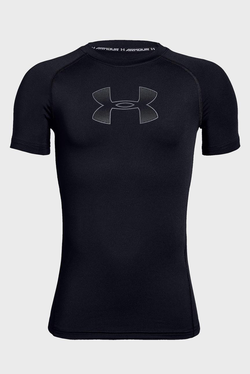 Детская черная футболка Armour HeatGear Short Sleeve