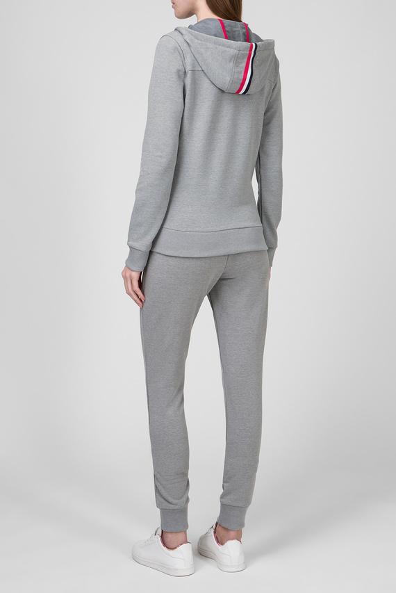 Женский темно-серый спортивный костюм (худи, брюки)