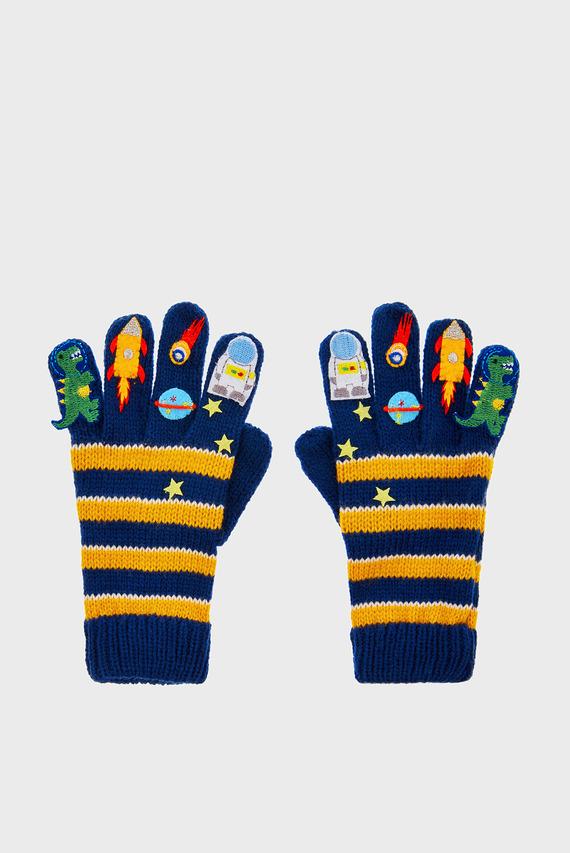 Детские перчатки в полоску SPACE STRIPE GLOVES