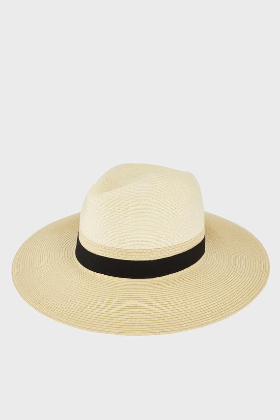 Женская бежевая шляпа MONO CHIC BRAID FEDO