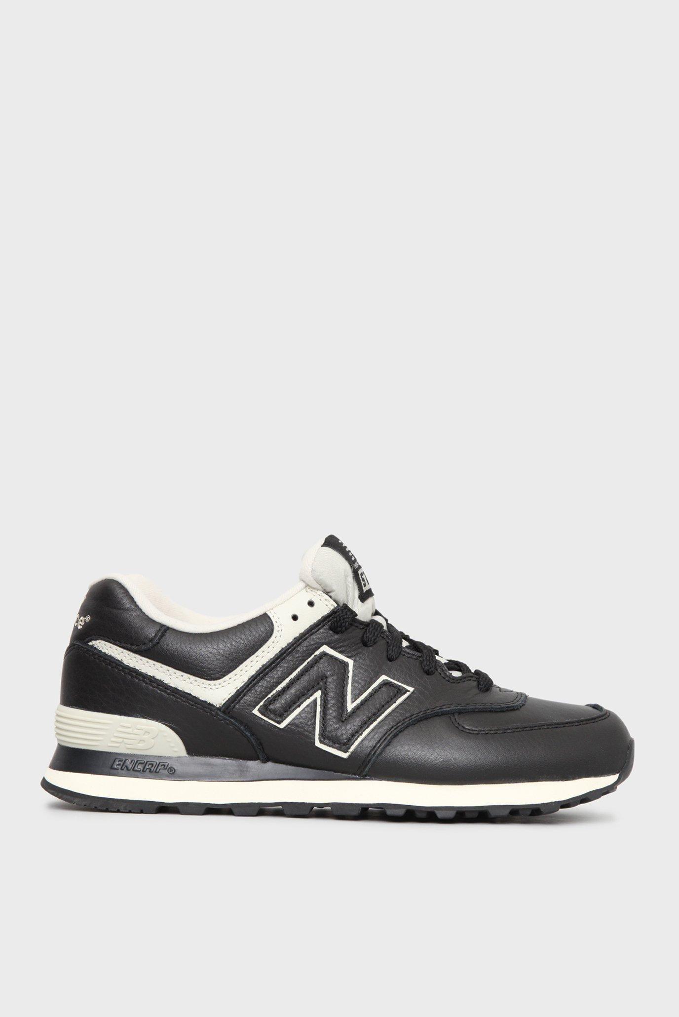 Купить Мужские черные кожаные кроссовки 574 New Balance New Balance  ML574LUC – Киев d86ce72b6a27e