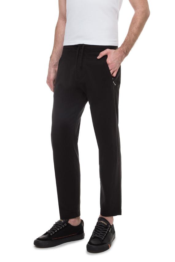 Мужские черные брюки Taper
