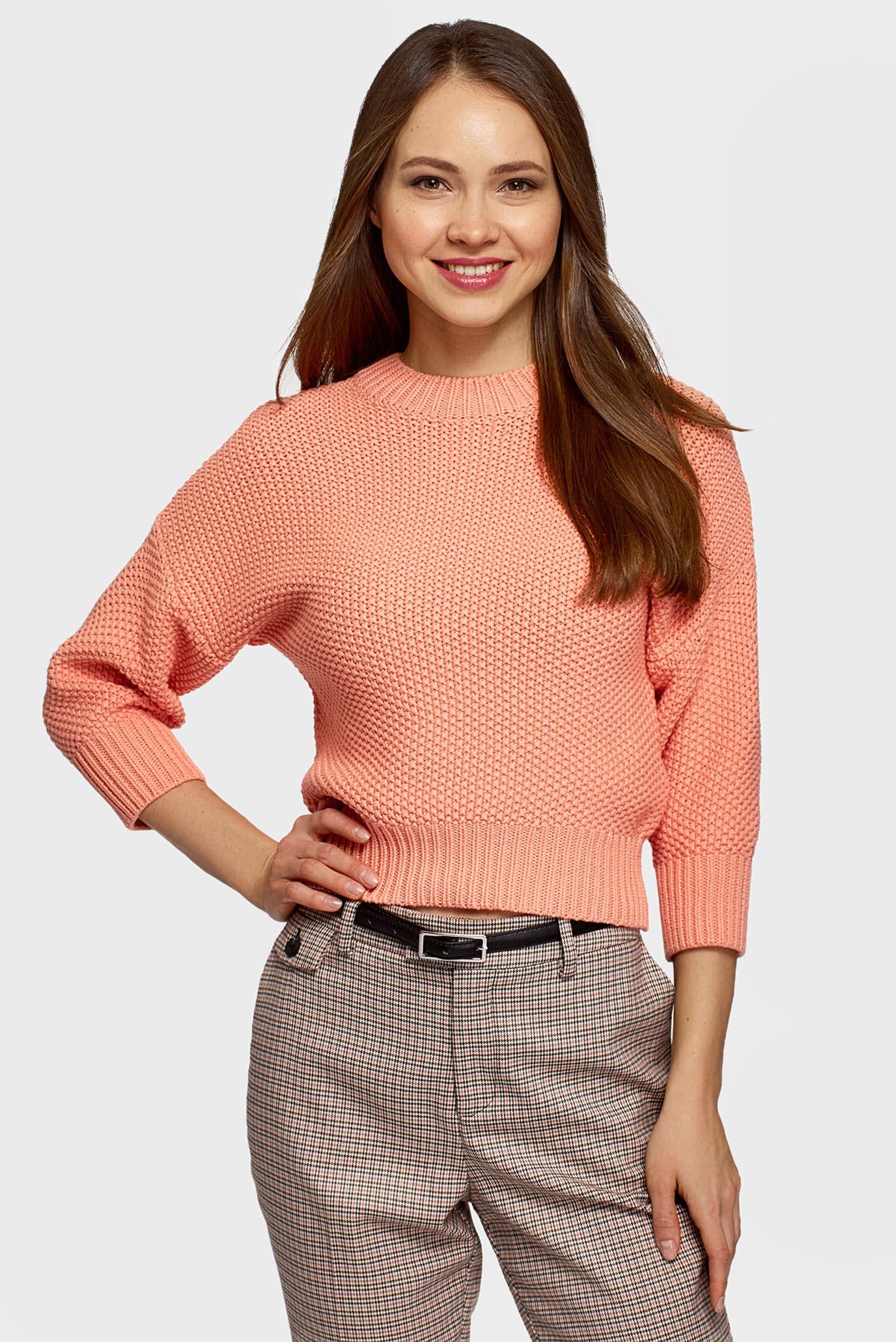 Женский оранжевый джемпер 1