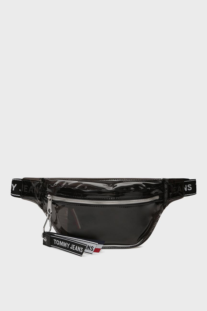 Черная поясная сумка TJU LOGO TAPE BUMBAG TRAN