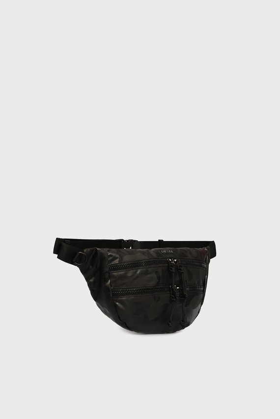 Мужская черная поясная сумка URBHANITY
