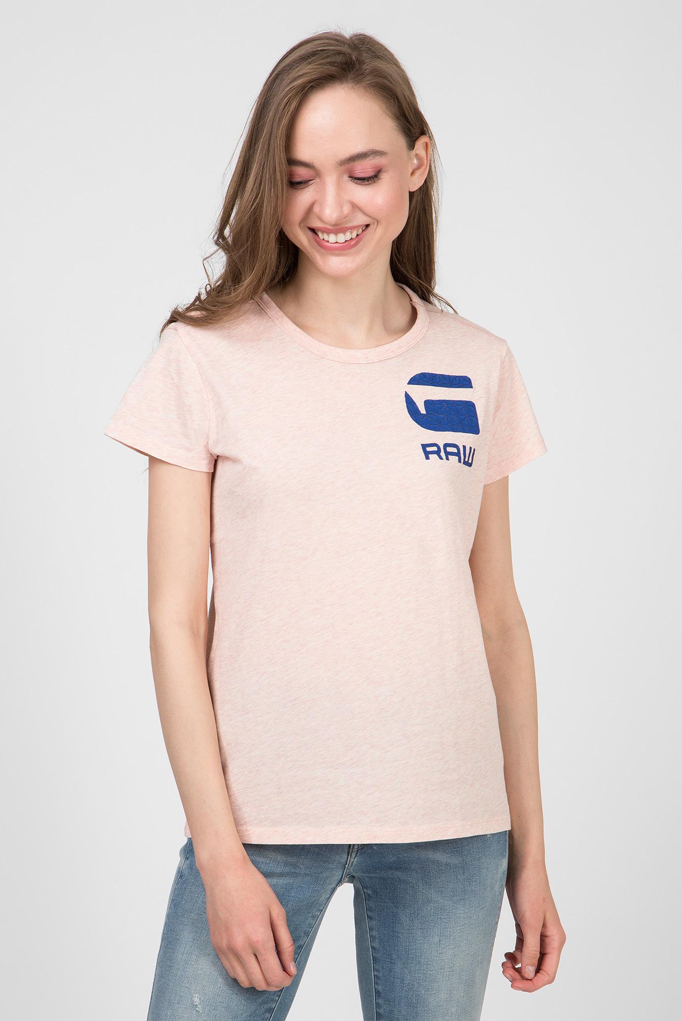 Женская розовая футболка Gyre dialw 1