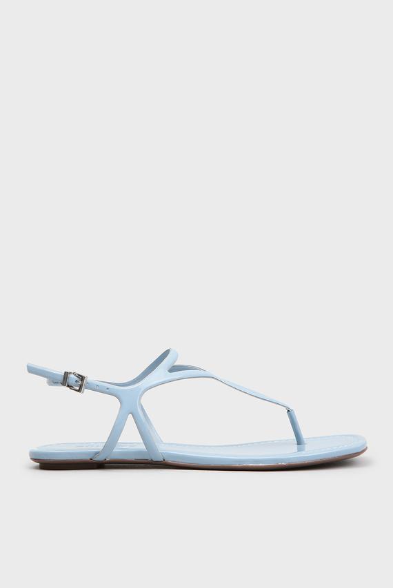 Женские голубые сандалии