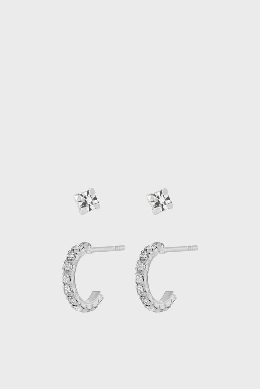 Женские серебряные серьги (2 шт) ST Sparkle