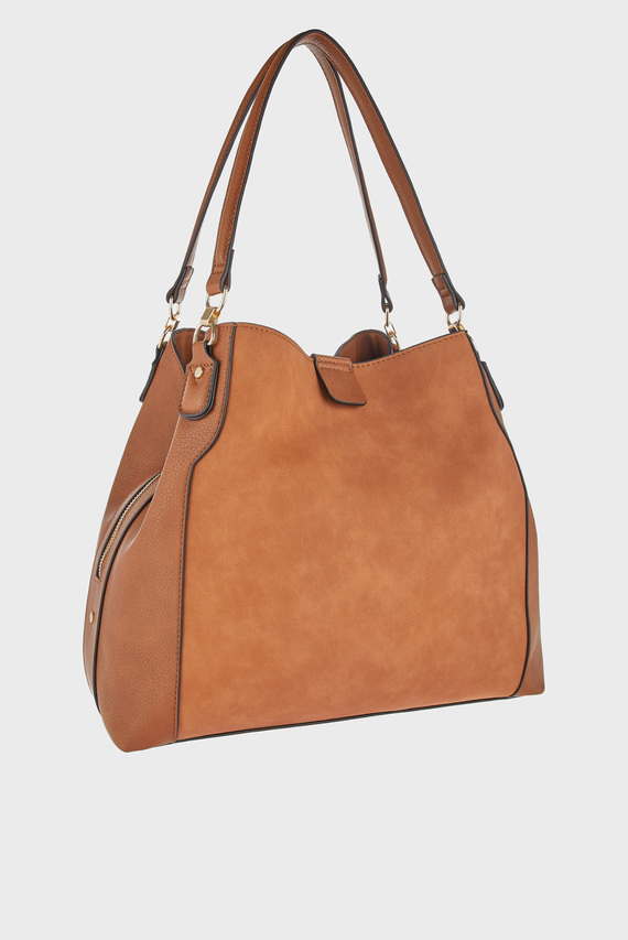 Женская коричневая сумка на плечо HARPER SHOULDER