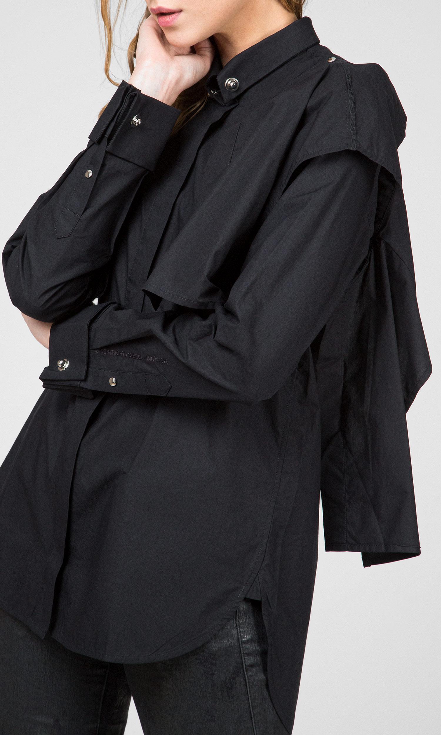 Женская черная рубашка C-RAILY-SHAPED Diesel
